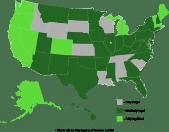 marijuana state map